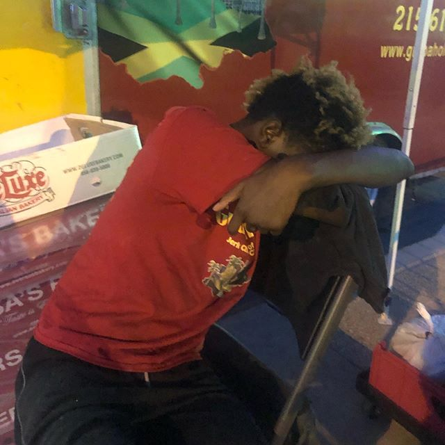 Caught one of our guys taking an unauthorized break 😴😴 @miafest #MIAFest. 12 straight hours both days can be a little tiring, so I won't be reprimanding him 😂😂😂
