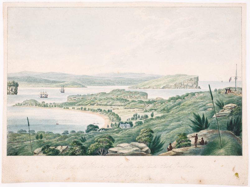 This painting by  Joseph Lycett , shows Port Jackson in 1824, a stark contrast to what is now Australia's biggest city.