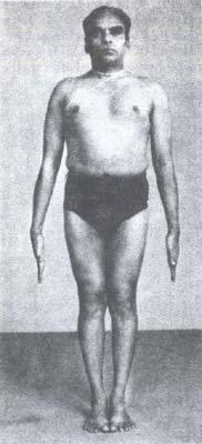 "Yogic ""tadasana"" or standing pose. ""[T]he aliveness of tadasana has no rigidity; just dynamic possibility."" -Arthur Kilmurray"