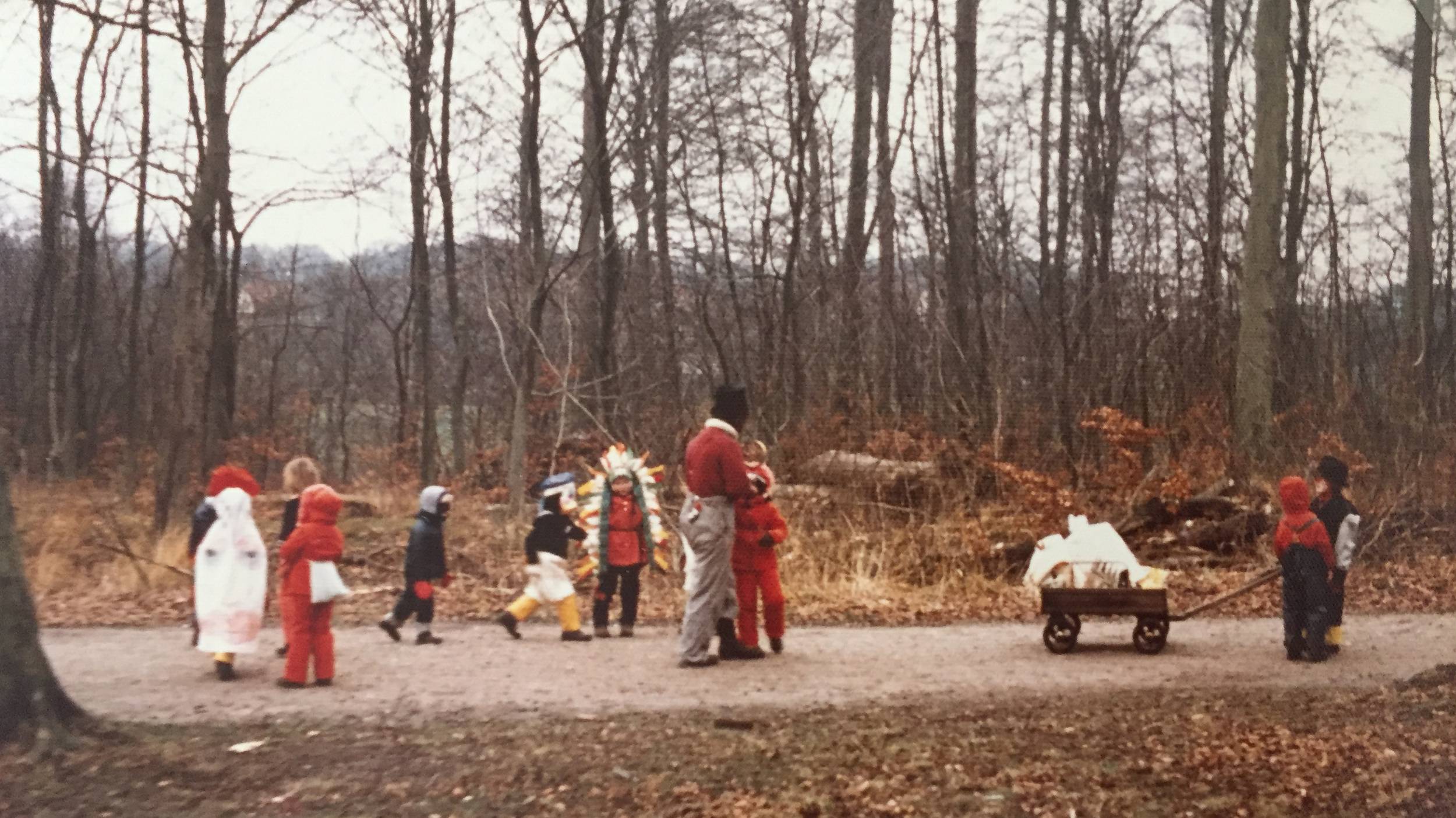 Stephan's forest kindergarten class in Denmark in the early seventies.