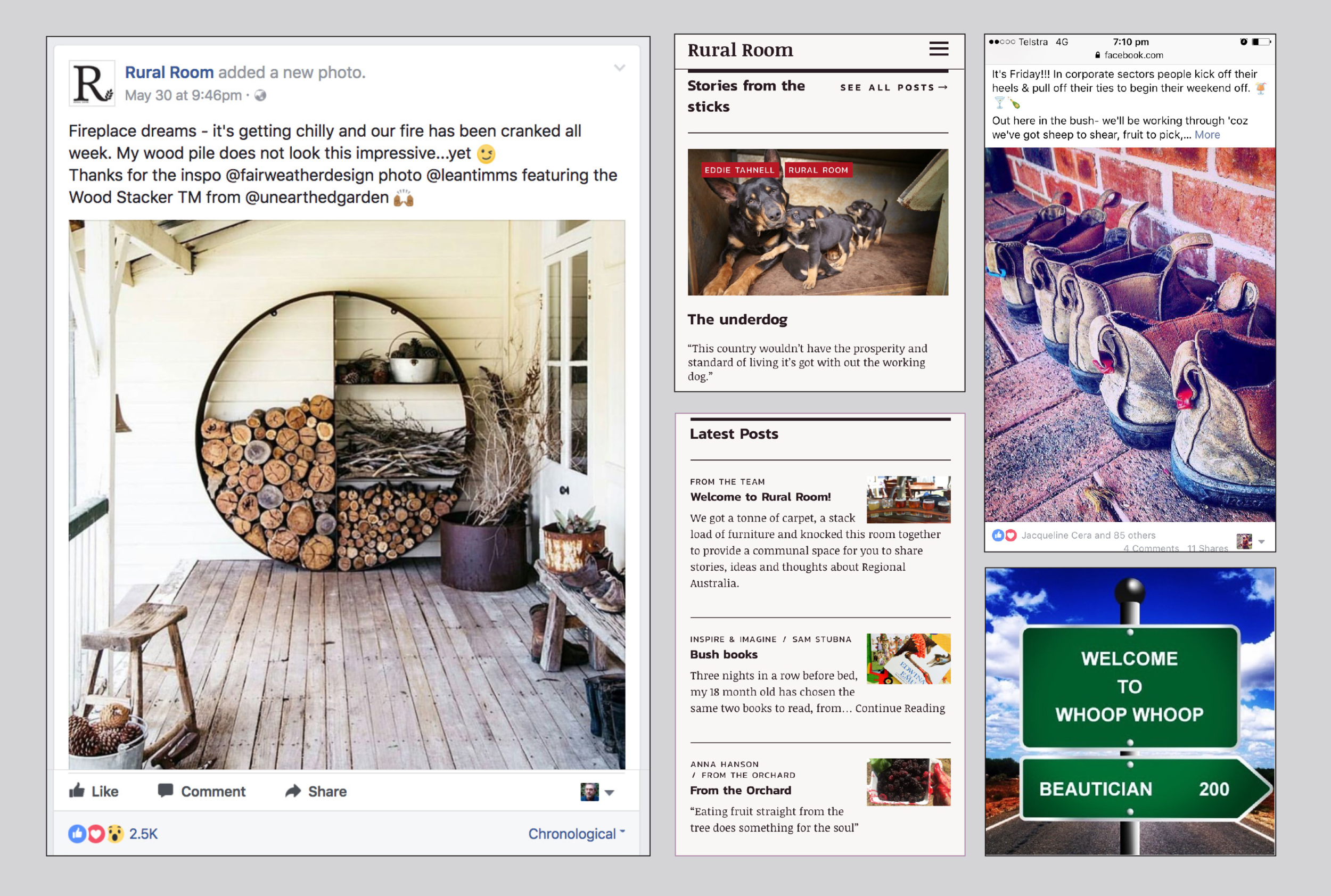 The Rural Room post, above, reached 356,463 people, received 2,500 Likes, 2000 Comments and 1000 Shares