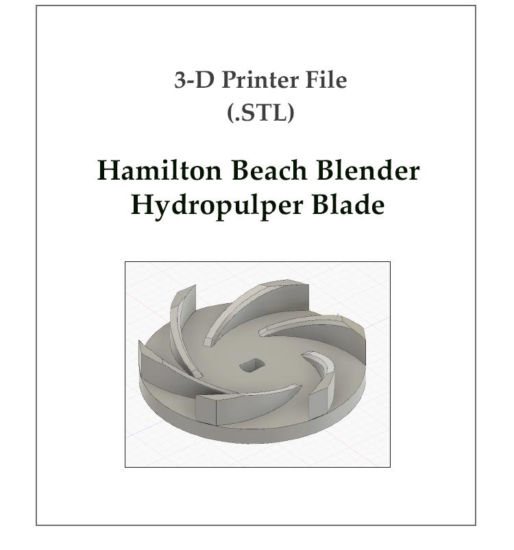 Hamilton Beach Blender Hydropulper Blade thumb.jpg