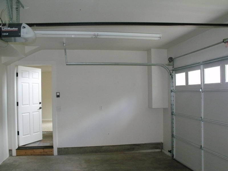 A finished garage will help minimize particulates from clinging to the walls.