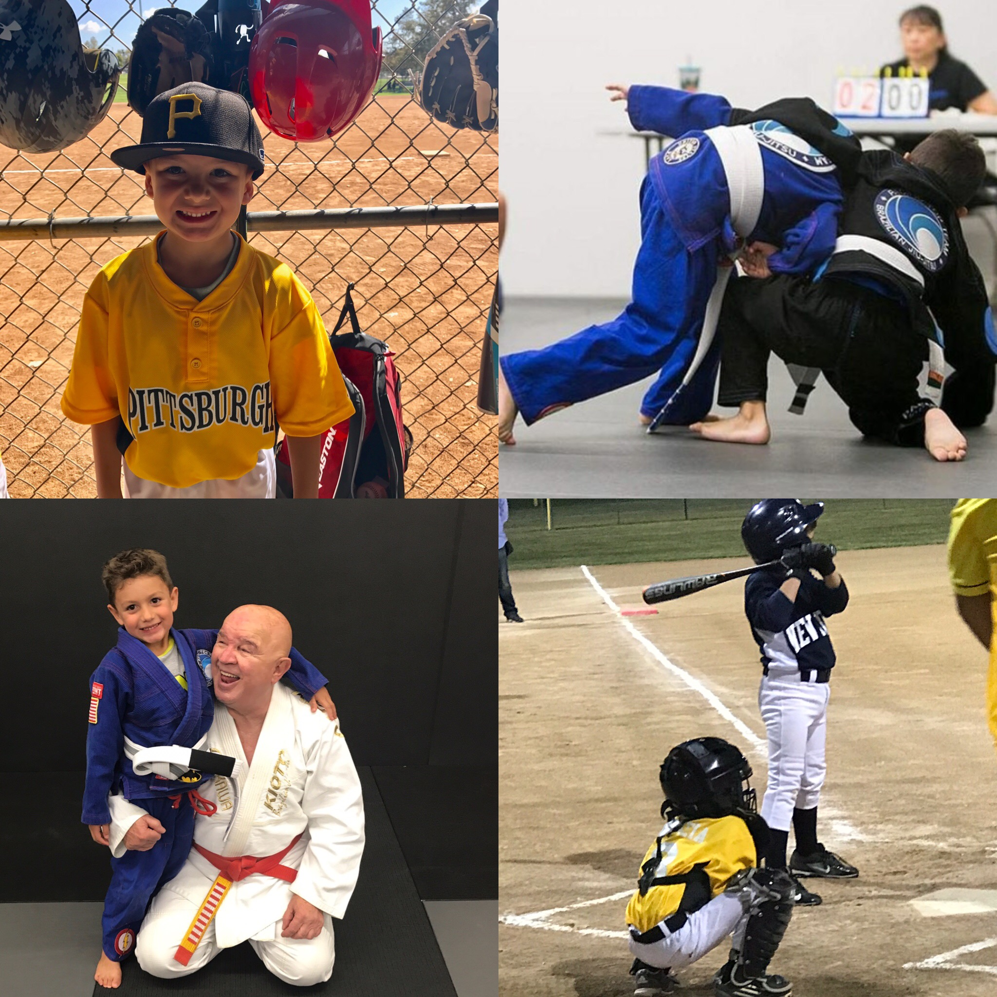 Hayden-a Little Ninja at PTT that was recently promoted to his White with Gray Belt in Brazilian         Jiu Jitsu and All Star Baseball Player!!!