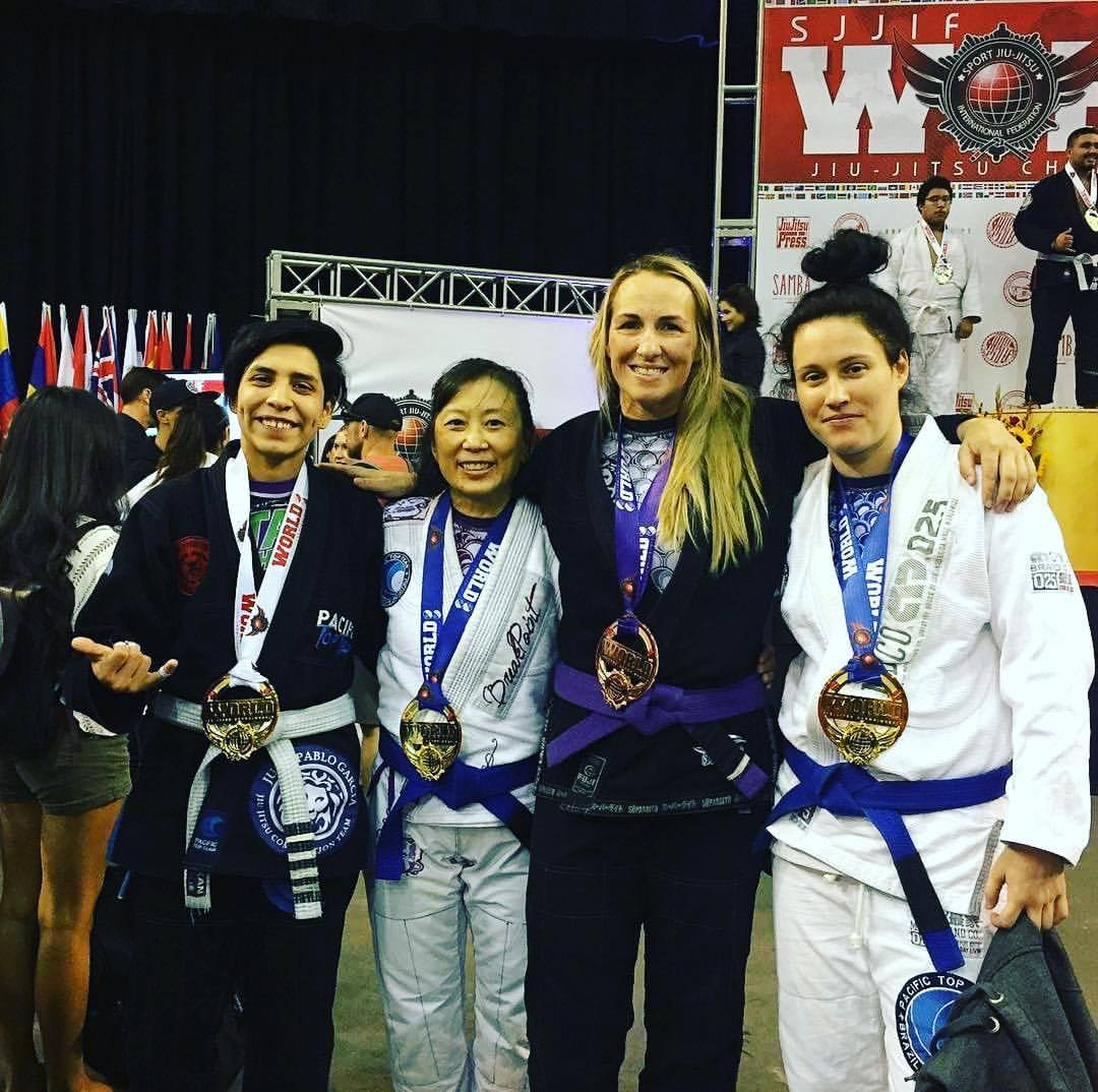 Pacific Top Team Jiu Jitsu Corona Girls at the SJJIF World Championship 2017