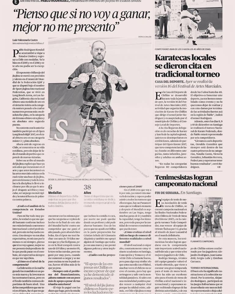 Coach Pablo Rodriguez Newspaper