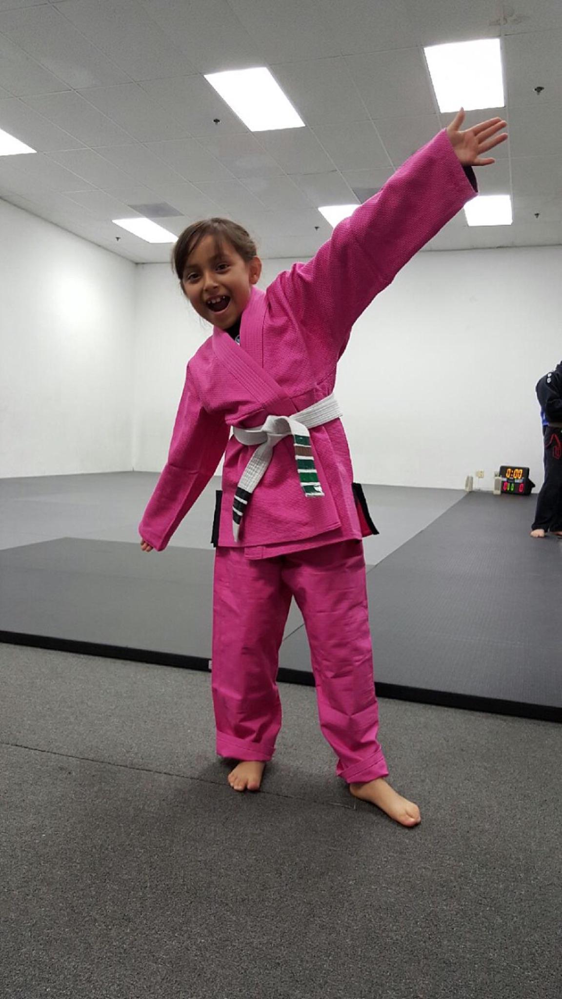 Dani when she started Jiu Jitsu at age 7