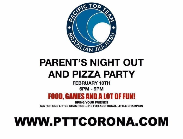 Parents Night Out at Pacific Top Team Jiu Jitsu