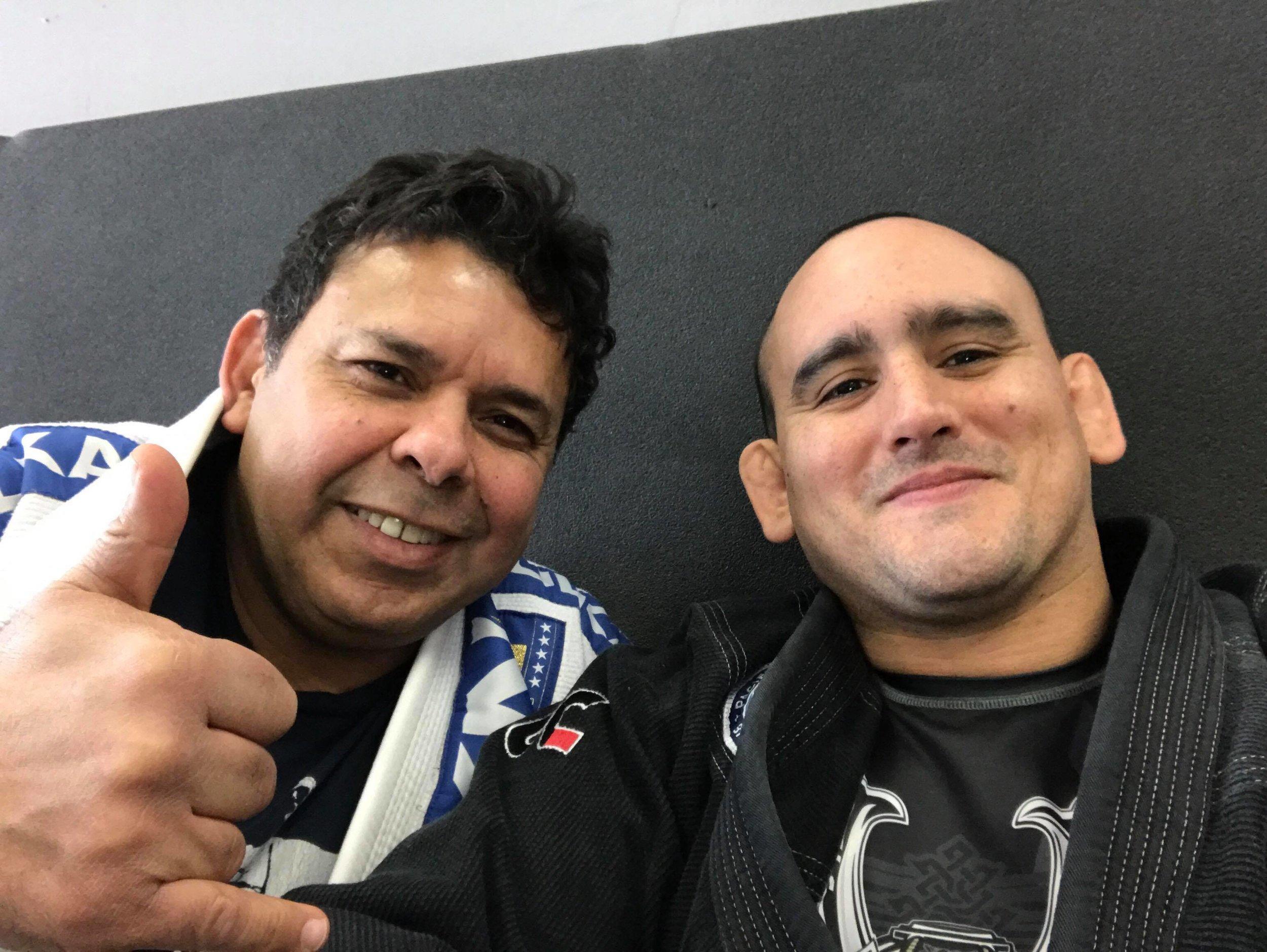 Master Joe Moreira and Juan Pablo Garcia