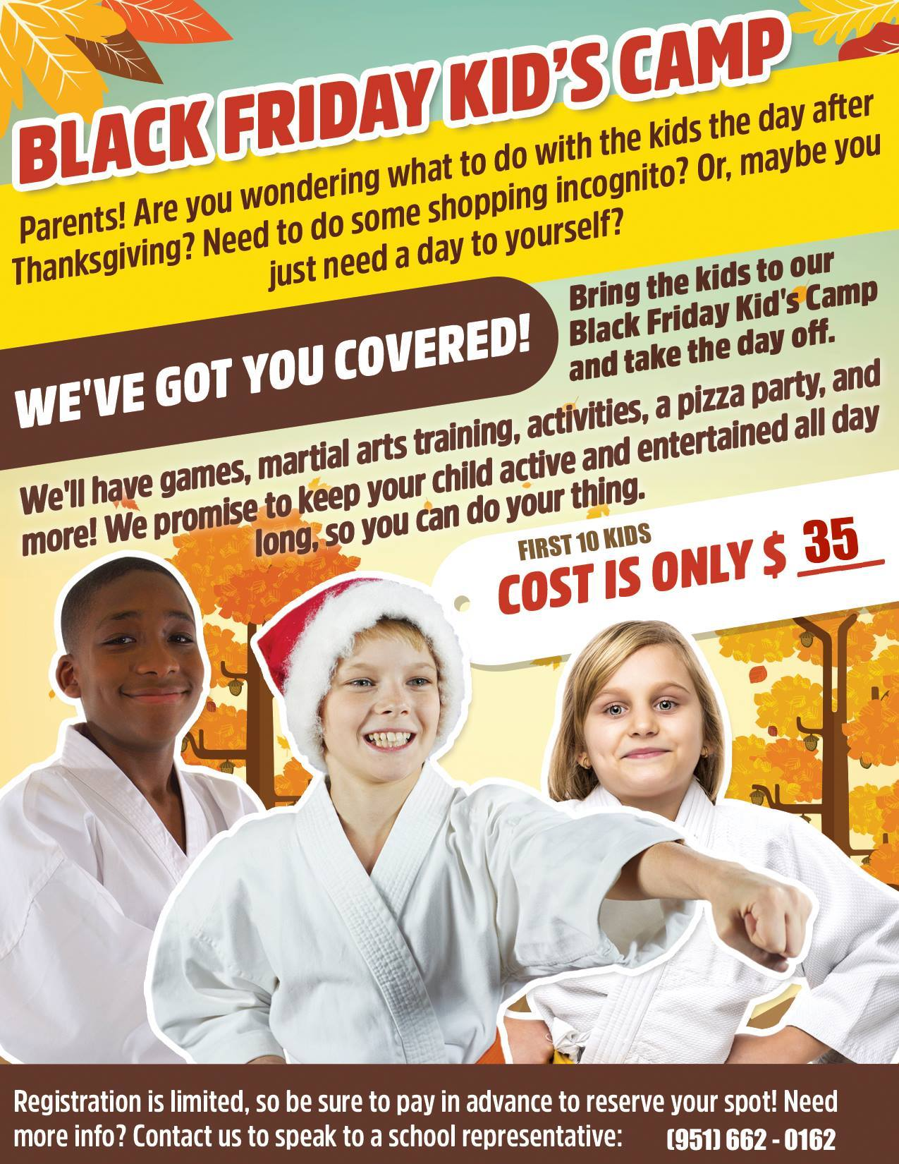 Black Friday Kids Jiu Jitsu Camp Corona