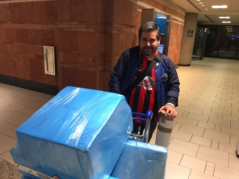 Daniel Alcala arrives in Phoenix for his Artist Residency and Exhibit, 12-14-15