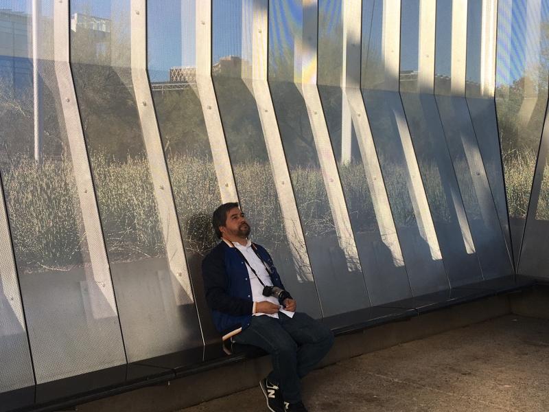 Daniel visiting the James Turrell skyspace at Arizona State University. 12-18-15