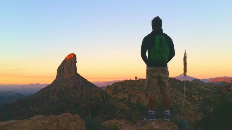 Túlio on the Peralta Trail    Superstition Mountains, Apache Junction, Arizona, 12-1-15. Photo credit: Cory Slawson