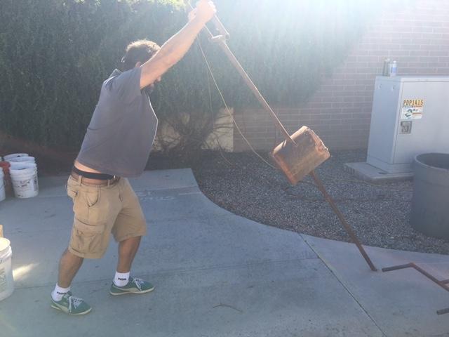 Tulio lifting iron pouring equipment. 11-14-15