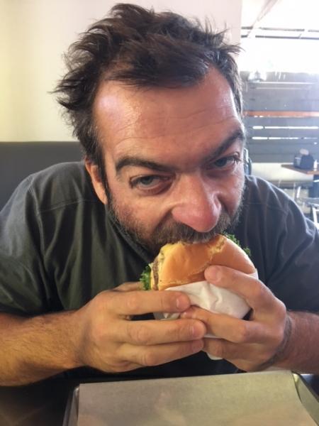Tulio tackling the USA Hamburger. 11-14-15