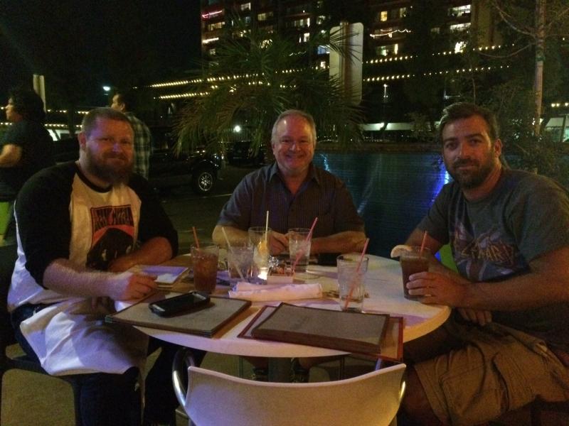 Tulio with Cory Slawson and Ted Decker, Hula's Modern Tiki, Phoenix. 11-2-15