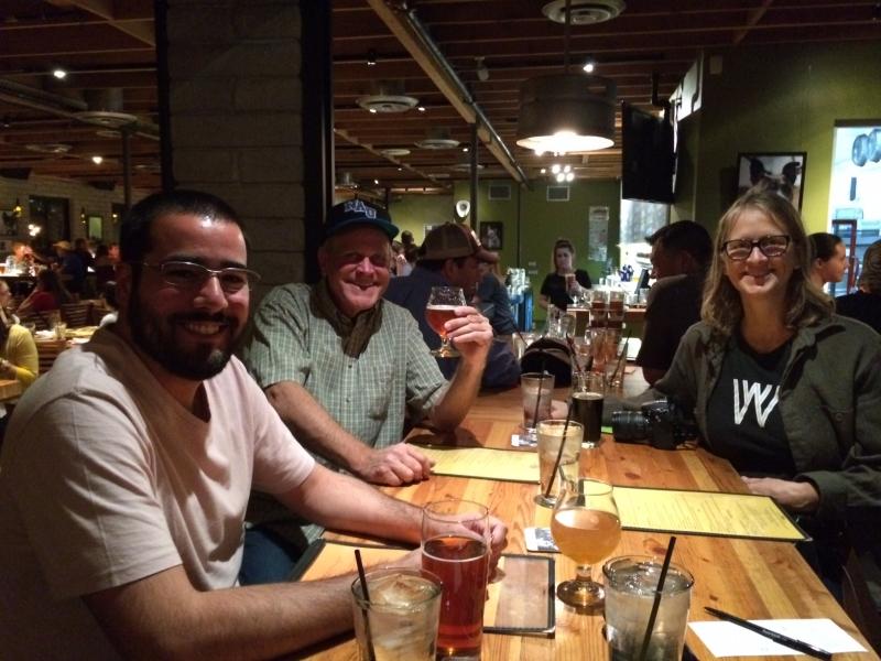 Felipe with Brian Hughes and Carolyn Lavender, Angel's Trumpet, Phoenix  11-6-14