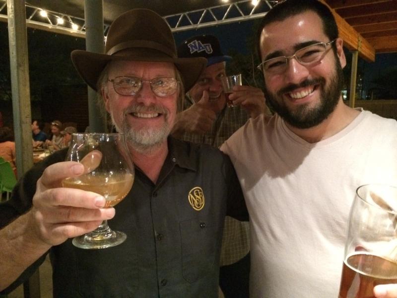 Felipe with Napa Smith brewmaster, Angel's Trumpet, Phoenix  11-6-14