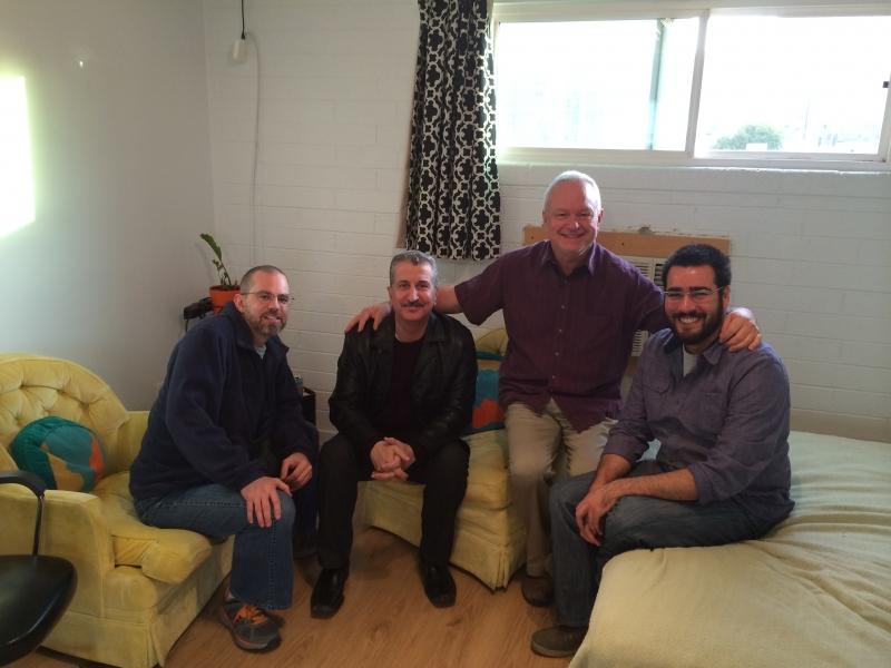 Jason Hugger, Robrt Pela, Ted Decker, Felipe Goes at Combine Studios  12-6-14