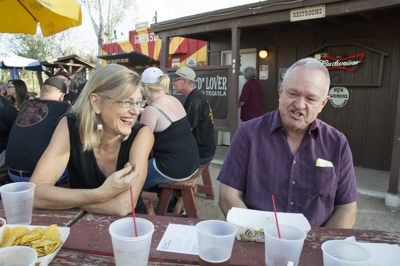 Patricia Sannit and Ted, Greasewood Flat  photo credit Carolyn Lavender 11-1-14