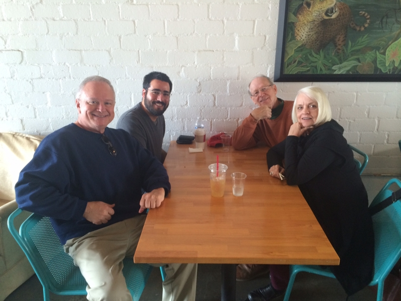 Felipe lunching with Joan Prior and John Armstrong  12-17-14