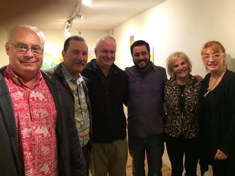 Steve Shields, Dave Decker, Ted Decker, Felipe Goes,Denise Decker, Kathleen Bishop, First Friday12-5-14