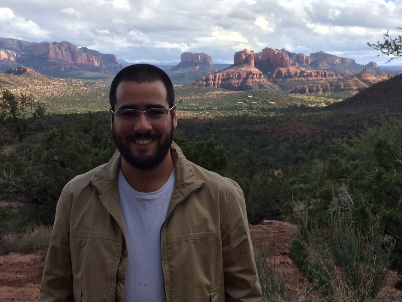 Felipe visiting Sedona and Oak Creek Canyon  11-2-14