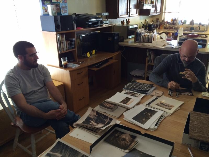 Felipe visiting with Chandler, AZ-based visual artist Brian Skaggs  11-17-14