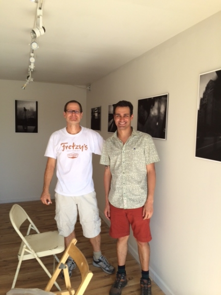 Wanderson Alves with Brent Bond on exhibit installation day  10-16-14