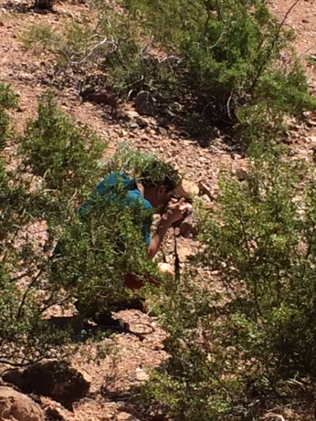 Wanderson photographing in the desert  10-17-14