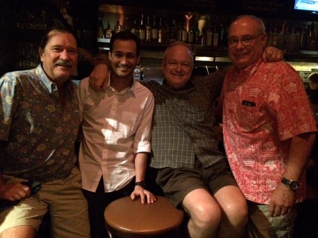 Wanderson with Dave Decker, Steve Shields, and birthday boy Ted Decker, Dicks Hideaway, Phoenix  10-11-14