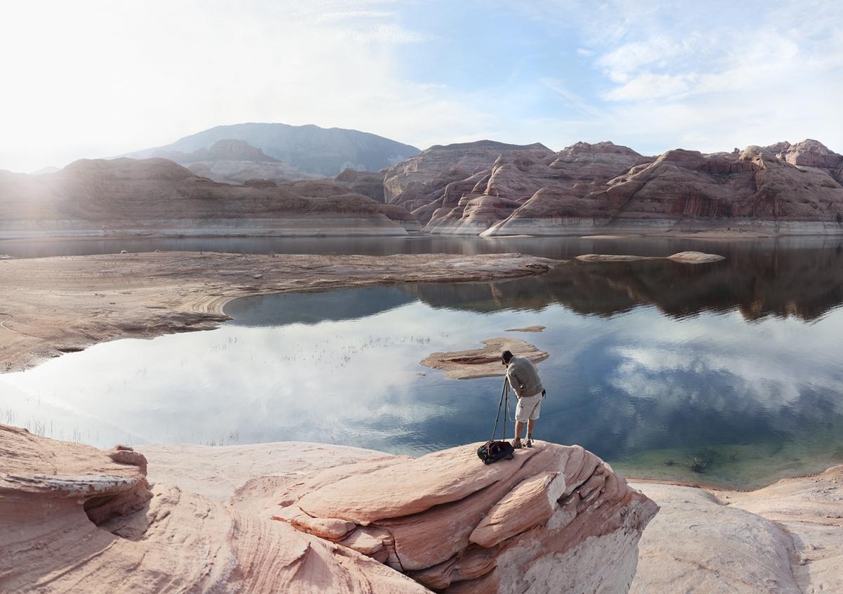 "Klett Facing Navajo Mountain, Lake Powell , 2012, Archival Inkjet, 58 x 44"". Courtesy of the Artist."