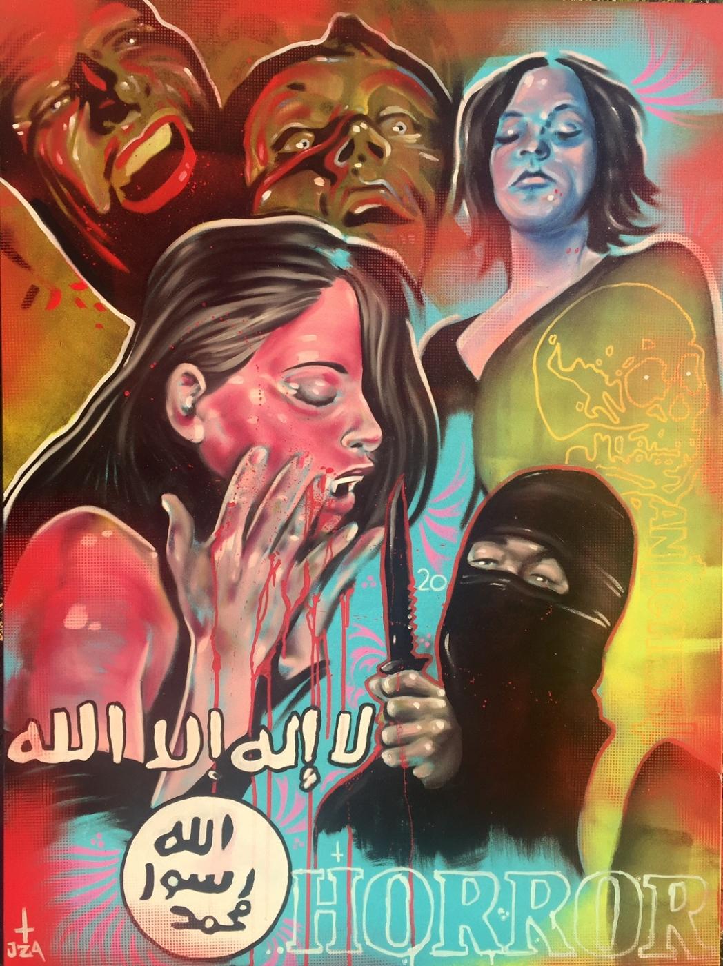 Jason-Adam-Dinger-Horror-2016-Acrylic-on-canvas-48-x-36-in.JPG