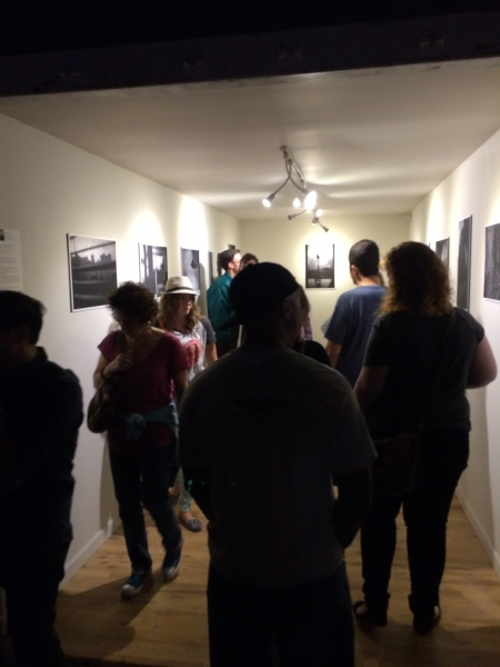 Phoenix First Friday crowd engaged with Wanderson's photos, 11-7-14