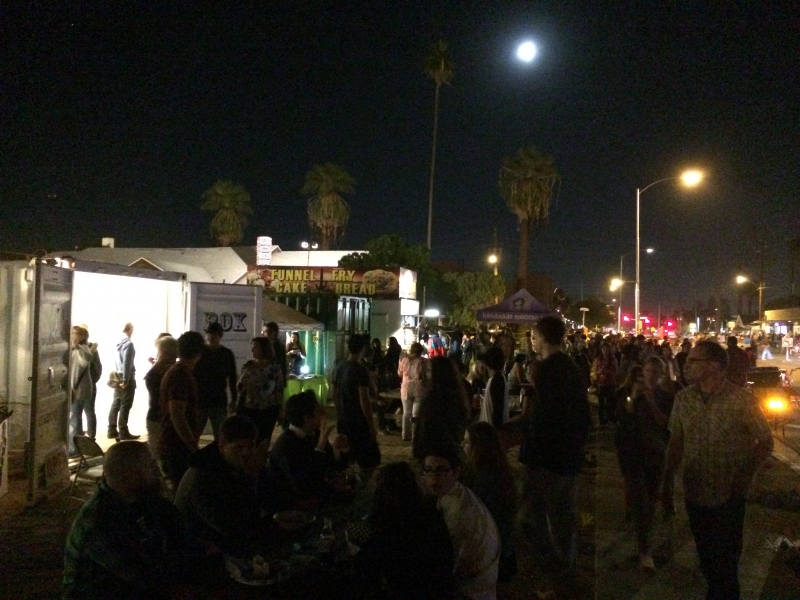 Phoenix First Friday with view of Wanderson's exhibit at left, 11-7-14