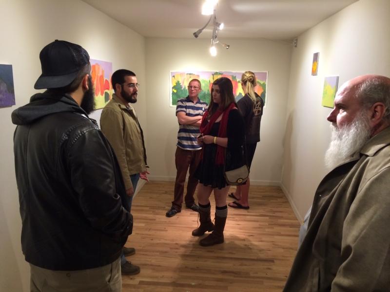 Felipe speaking with Mesa Community College students, 11-21-14