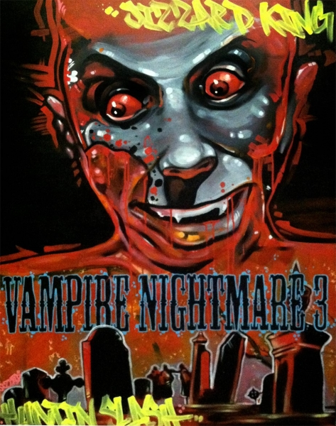 Vampire Nightmare 3, 2014  Acrylic on canvas 48 x 36 inches