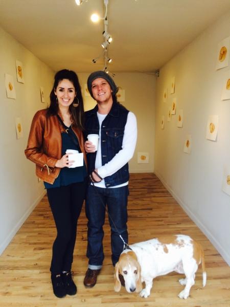 Phoenix-based visual artists Lexie Bowers and Bill LeGuillon enjoying Andrea's exhibit, 1-31-15.