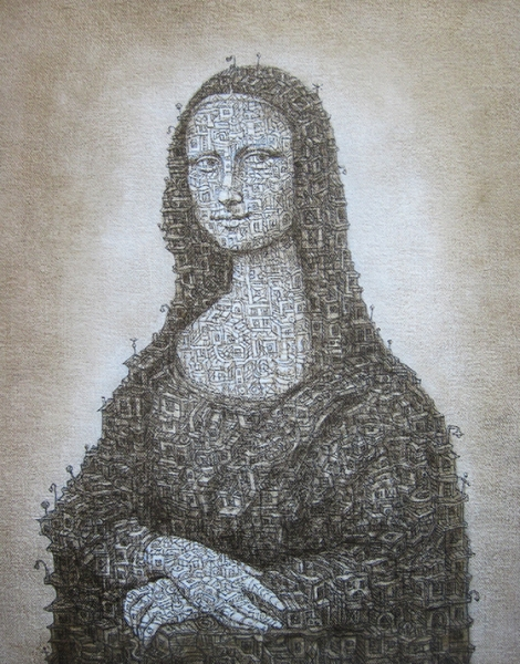 Monalisa, 2014  Acrylic on canvas 10 x 8 inches