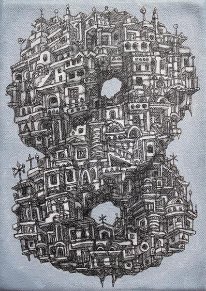 Eternal Disdain, 2013  Acrylic on canvas 7 x 5 inches