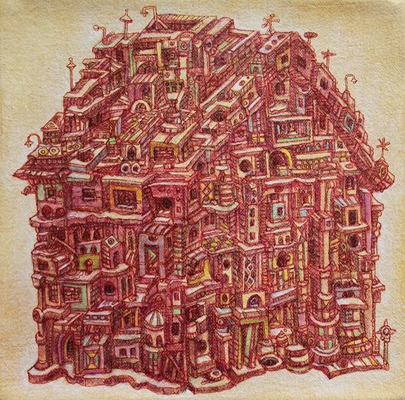 Maloka, 2013  Acrylic on canvas 6 x 6 inches