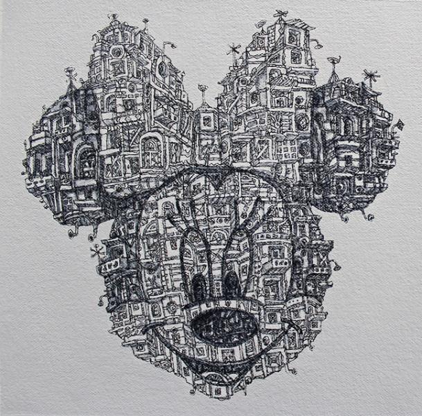Minnie, 2015  Acrylic on canvas 6 x 6 inches