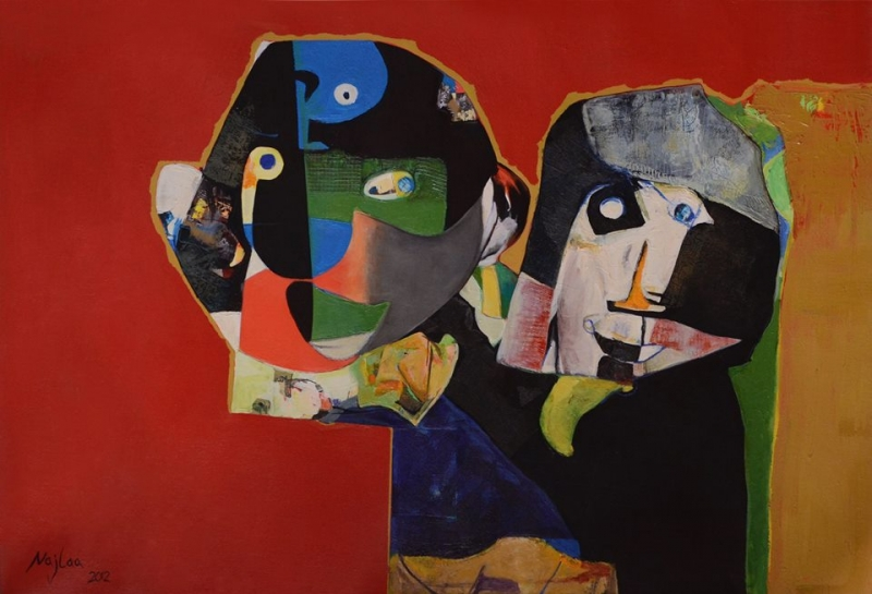 Childhood's Happiness, 2012  Acrylic on Canvas 31 x 47 in