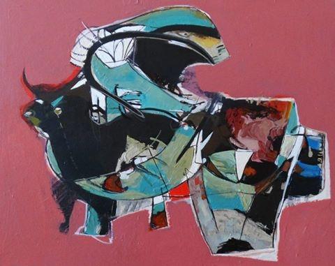 Struggle, 2015  Acrylic on Canvas 16 x 20 in