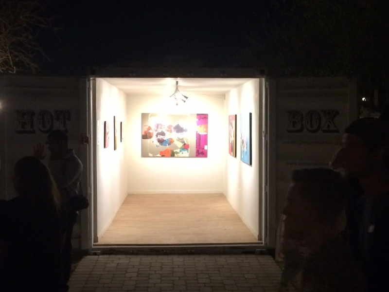 First Friday, Najelaa show, 4-3-15. Photo credit - Ted Decker
