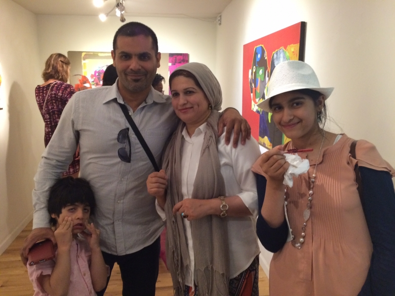 Najelaa with her family, First Friday, 4-3-15
