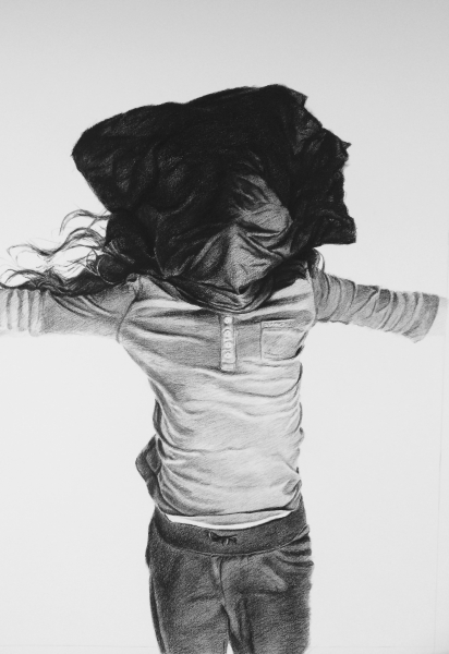 Sin título (Untitled) 1 , 2015 Charcoal, conte crayon drawing on paper 40 x 27 inches