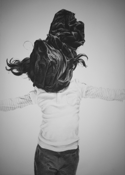 Sin título (Untitled) 3 , 2015 Charcoal, conte crayon drawing on paper 40 x 27 inches