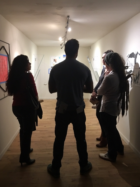 Tulio with visual artists Christine Cassano, William LeGoullon, Lexie Bowers, 11-20-15