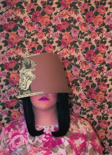 """Pothead    Anonymous Self Portraits , 2015 Digital Color Archival Inkjet print with Hand Applied Processes 11 x 8.5""""."""
